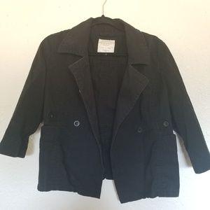 Old Navy  Women's Black 3/4 Sleeve Blazer